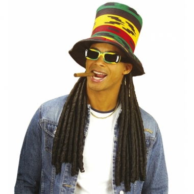 Reggae muts rasta met dreadlocks