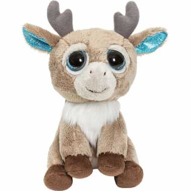 Rendieren speelgoed artikelen knuffelbeest bruin 15 cm