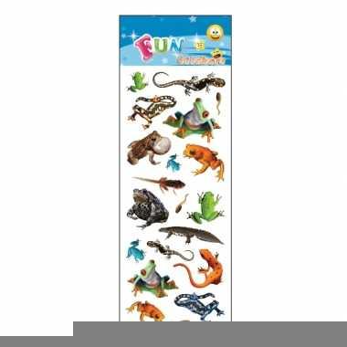 Reptielen stickervellen