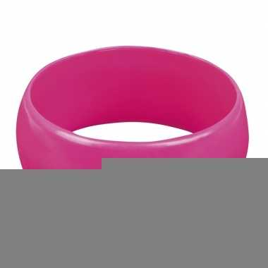 Retro armband roze voor volwassenen