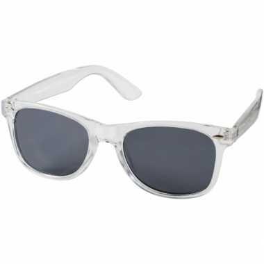 Retro zonnebril transparant