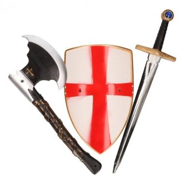 Ridder zwaard, bijl en schild