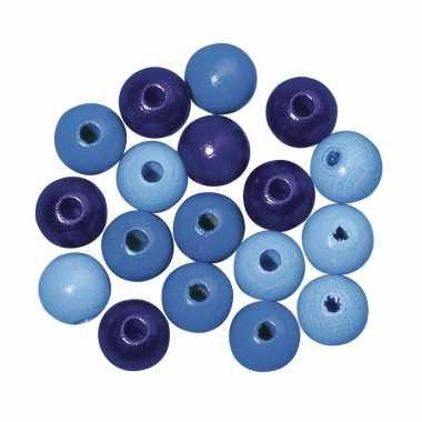 Rijgkraaltjes blauw gekleurd 6 mm