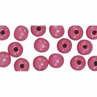 Rijgkraaltjes roze 14 mm