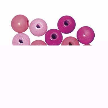 Rijgkraaltjes roze gekleurd 4 mm