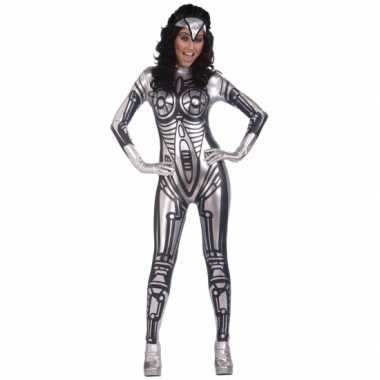 Robot jumpsuit kostuum voor dames