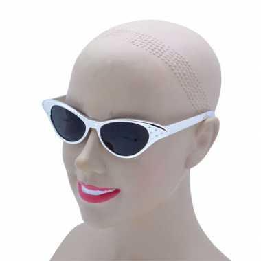 Rockabilly zilveren zonnebrillen