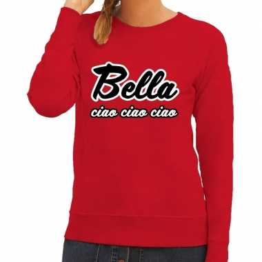 Rode bella ciao sweater voor dames