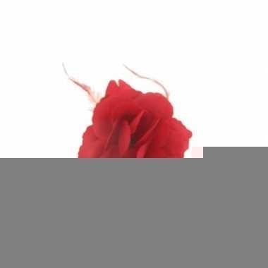 Rode bloem accessoire 10x10cm