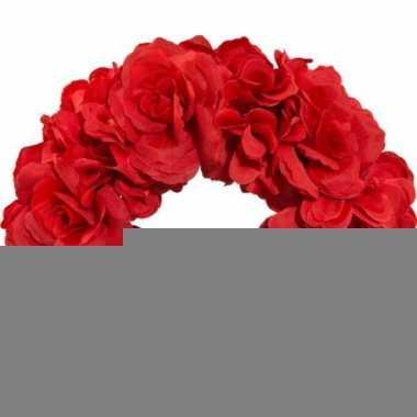 Rode bloemendiadeem