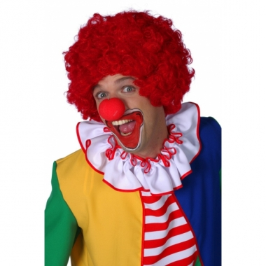 Rode clownspruiken