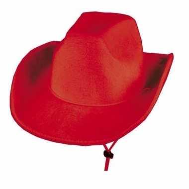 Rode cowboyhoeden voor heren