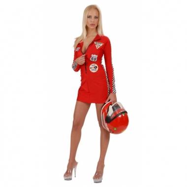 Rode dames pitspoes jurk grand prix