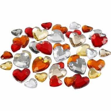 Rode diamanten stenen hart
