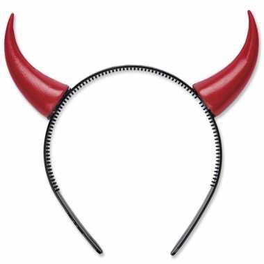 Rode duivel hoorns op diadeem
