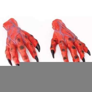 Rode duivels handen