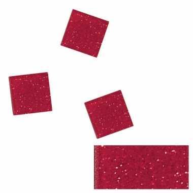 Rode glitter mozaiek steentjes 205 st