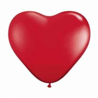Rode hartjes ballonnen 28cm