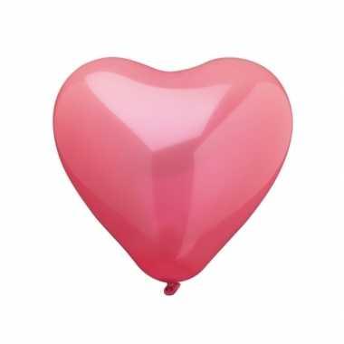 Rode hartjesballonnen 10 stuks