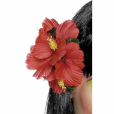 Rode hawaii haarbloemen
