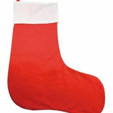 Rode kerstsokken voor kado 75 cm