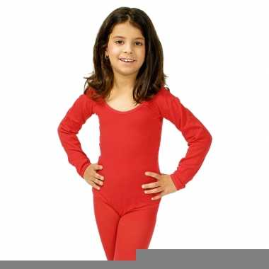 Rode kinder ballet outfit