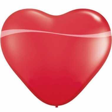 Rode mega hartjes ballon 90 cm
