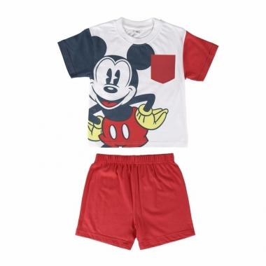 Rode mickey mouse korte pyjama jongens