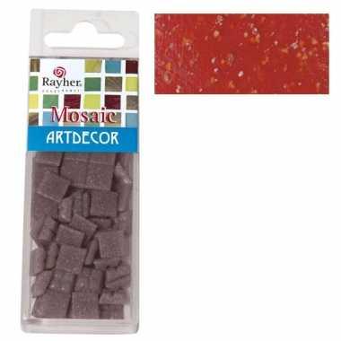 Rode mozaiek steentjes 310 st