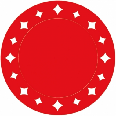 Rode placemats met sterren 33 cm