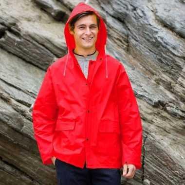 Rode regenjas splash voor volwassenen
