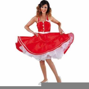 Rode rock en roll jurk voor dames