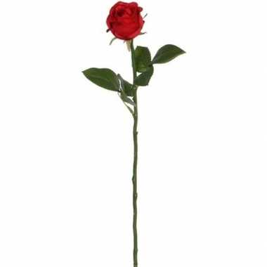 Rode roos kunstbloem 45 cm