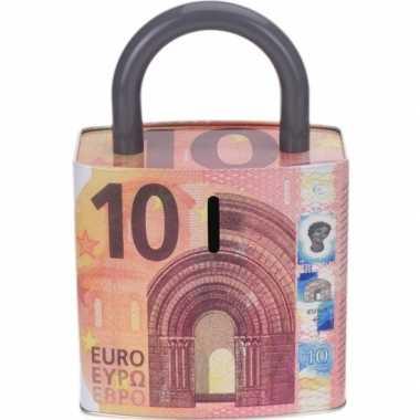 Rode spaarpot 10 euro biljet 25 cm
