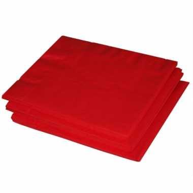 Rode thema servetten 60x