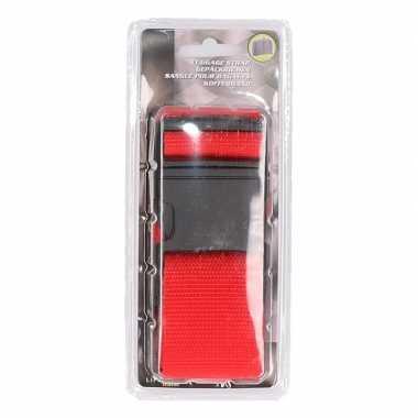 Rode verstelbare kofferriem extra sterk