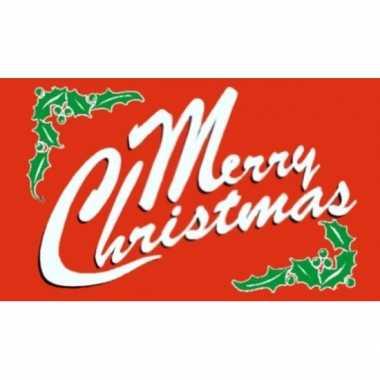 Rode vlag merry christmas