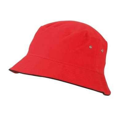 Rode zonnehoed voor kids