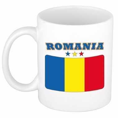 Roemeense vlag theebeker 300 ml