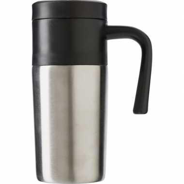 Roestvrijstalen thermos/isoleer reisbeker 330 ml zilver
