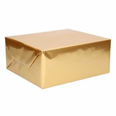 Rol inpakpapier uni goud 76 x 500 cm
