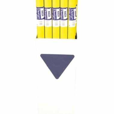 Rol tafelkleed in de kleur geel