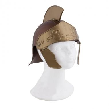 Romeinse helm in het goud