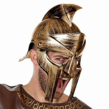 Romeinse verkleed helm met vizier voor heren
