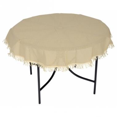 Rond tafelzeil voor buiten beige 160 cm