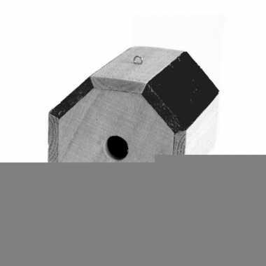 Rond vogelhuisje hout 17 cm