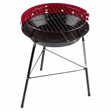 Ronde barbecue / grill rood