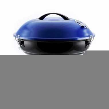 Ronde barbeque blauw 36 cm