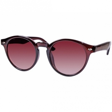 Ronde dames zonnebril bruin model 7001