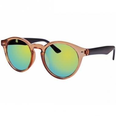 Ronde dames zonnebril bruin model 7002